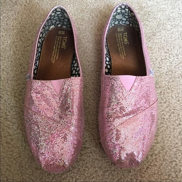 49faf2a01da2 Pink Sequin Glitter Toms. M 5ac956d73800c5d23f4dcc2e